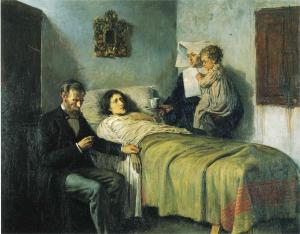 Science and Charity, a classic painting by Pablo Picasso when he was 15 years old.   In many ways it reflects the values and tradition of Scotland -- Medicine, Humanism, and Philanthropy.